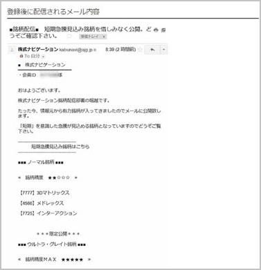 株式ナビゲーション メール画像