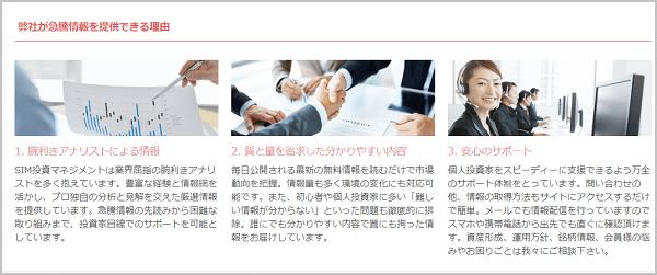 SIM投資マネジメント 評判 HP