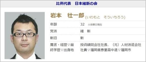 アイリンクインベストメント 口コミ 評判 岩本壮一郎 選挙
